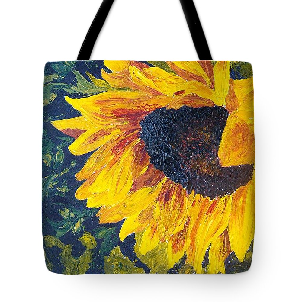 Tote Bag featuring the painting Sunflower by Tami Booher
