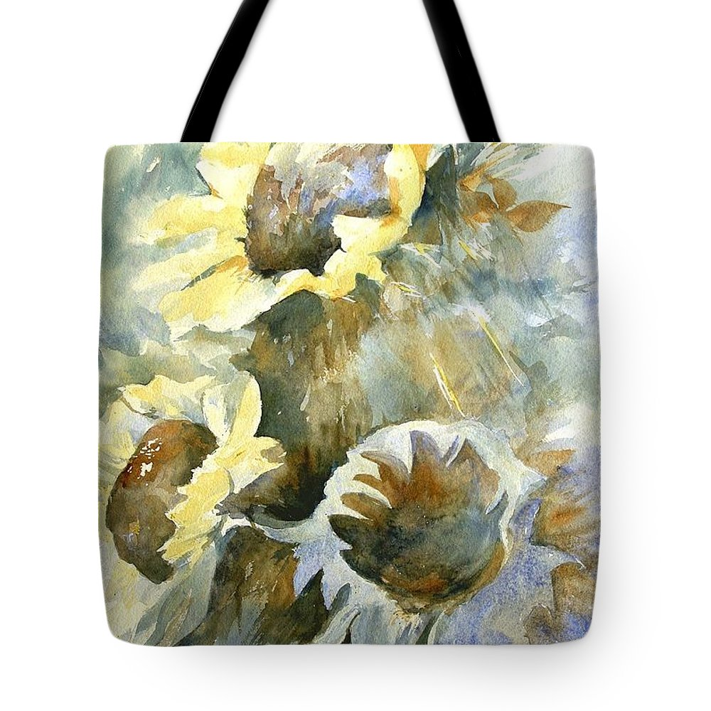 Sunflower Painting Tote Bag featuring the painting Sunflowers Ill by Madeleine Holzberg