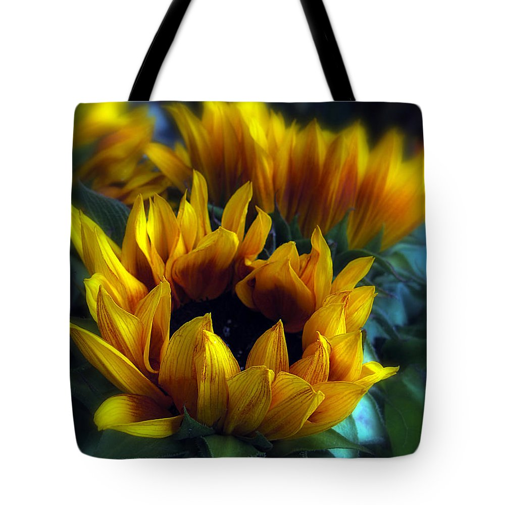 Flowers Tote Bag featuring the photograph Sunflowers by Jessica Jenney