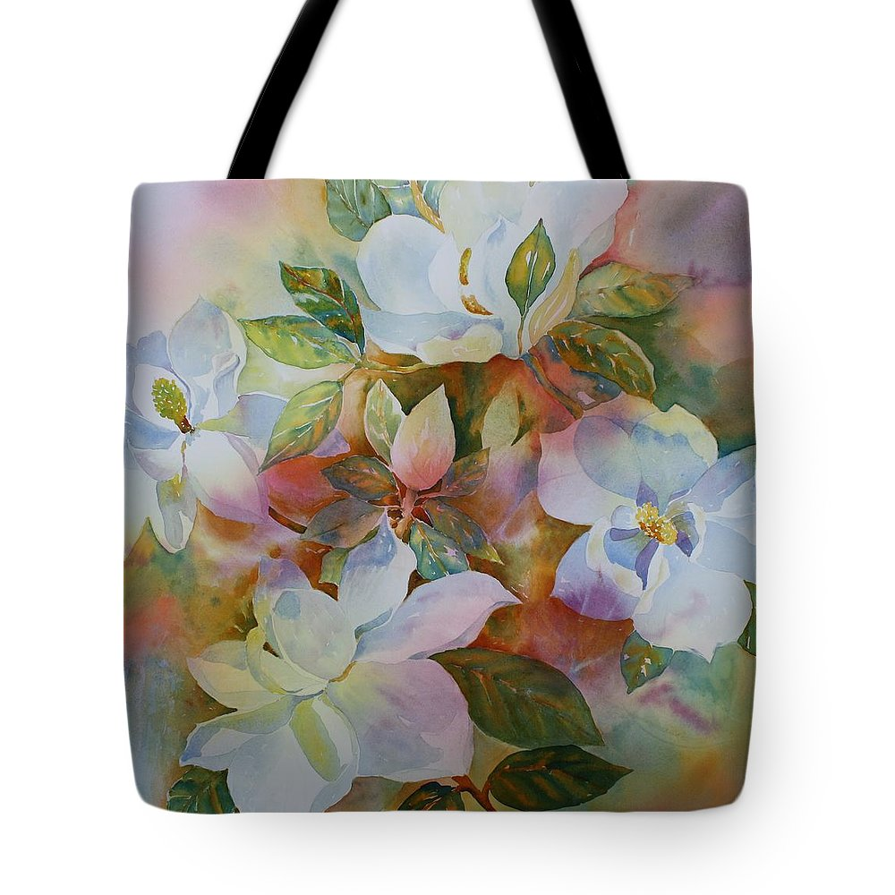 Flower Tote Bag featuring the painting Sunkissed II by Tara Moorman