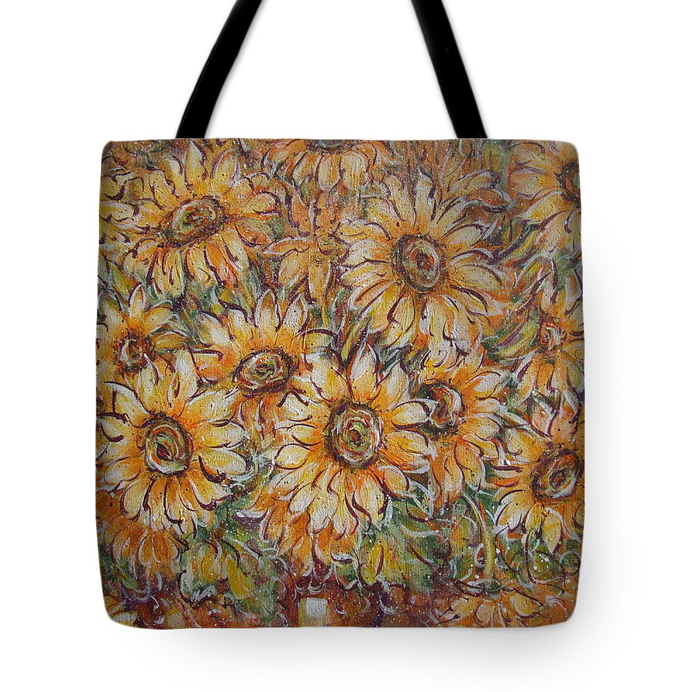Flowers Tote Bag featuring the painting Sunlight Bouquet. by Natalie Holland