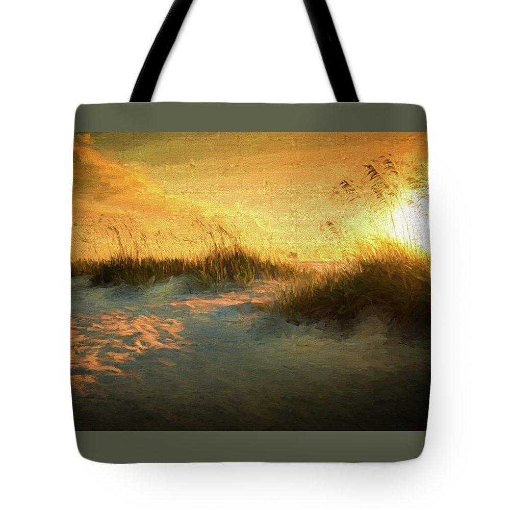 Sea Grass Digital Art Tote Bags