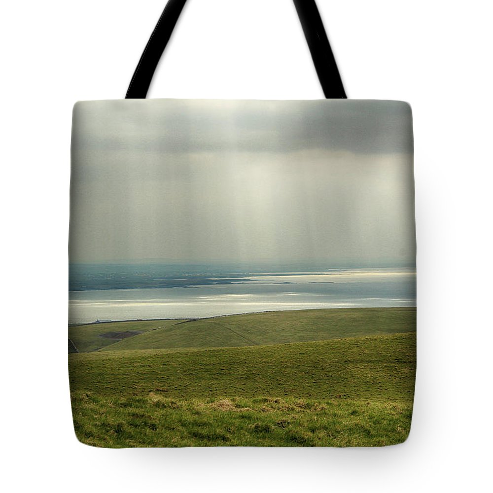 Ireland Tote Bag featuring the photograph Sunlight On The Irish Coast by Marie Leslie