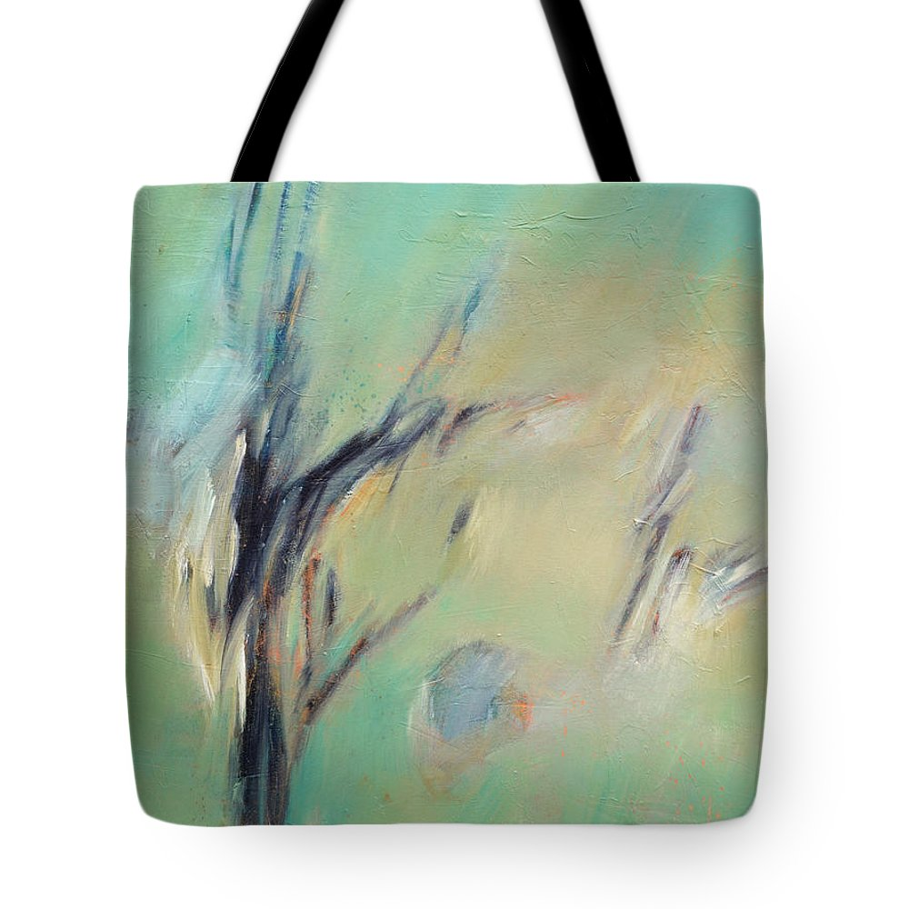 Landscape Tote Bag featuring the painting Sunlight Through The Oaks by Filomena Booth