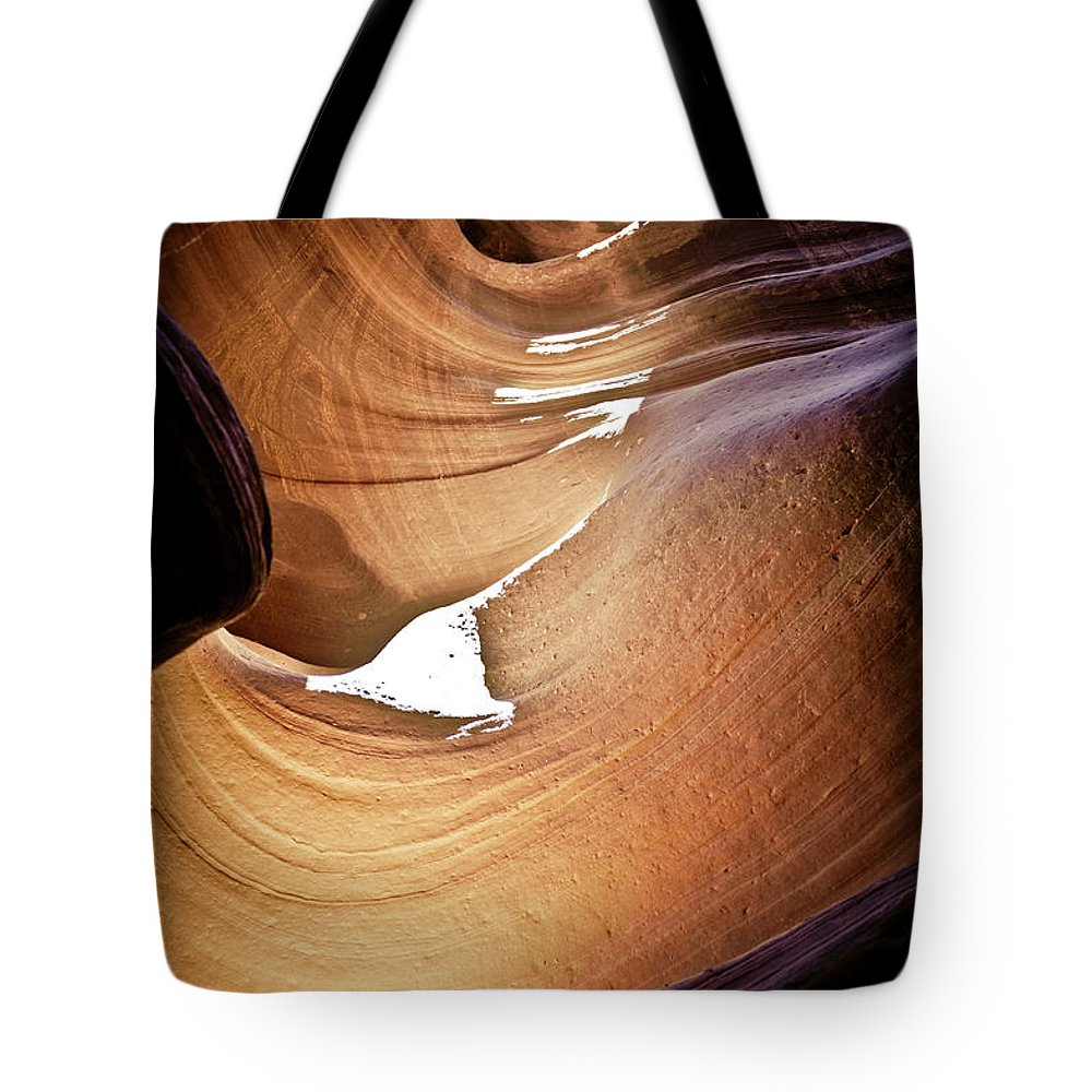 Slot Canyon Tote Bag featuring the photograph Sunlit Slot Canyon by Scott Sawyer