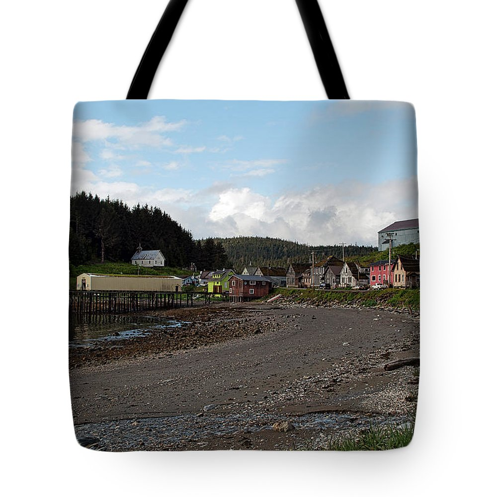 Angoon Tote Bag featuring the photograph Sunny Day In Angoon by Cathy Mahnke