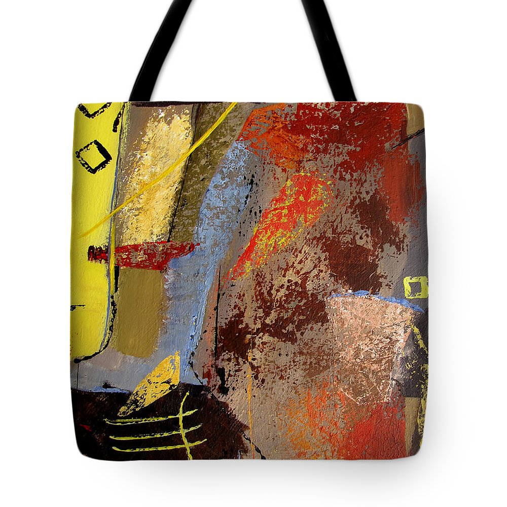 Abstract Tote Bag featuring the painting Sunny Disposition by Ruth Palmer