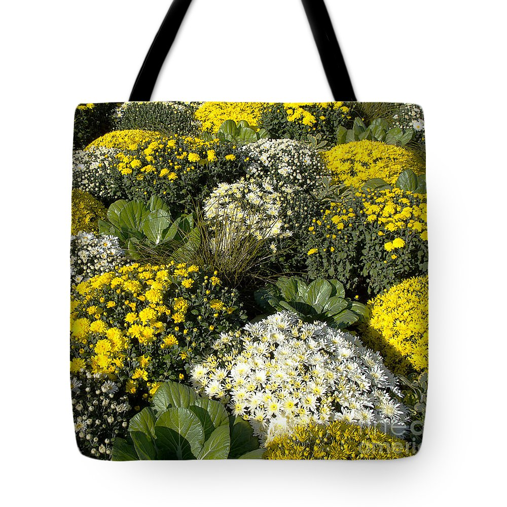 Flowers Tote Bag featuring the photograph Sunny Mums by Ann Horn