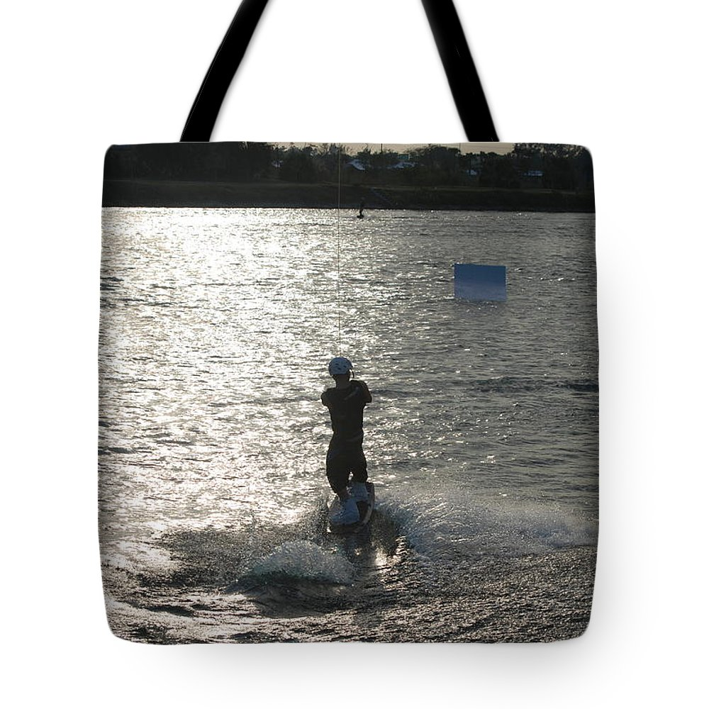 Sun Tote Bag featuring the photograph Sunny Waves by Rob Hans