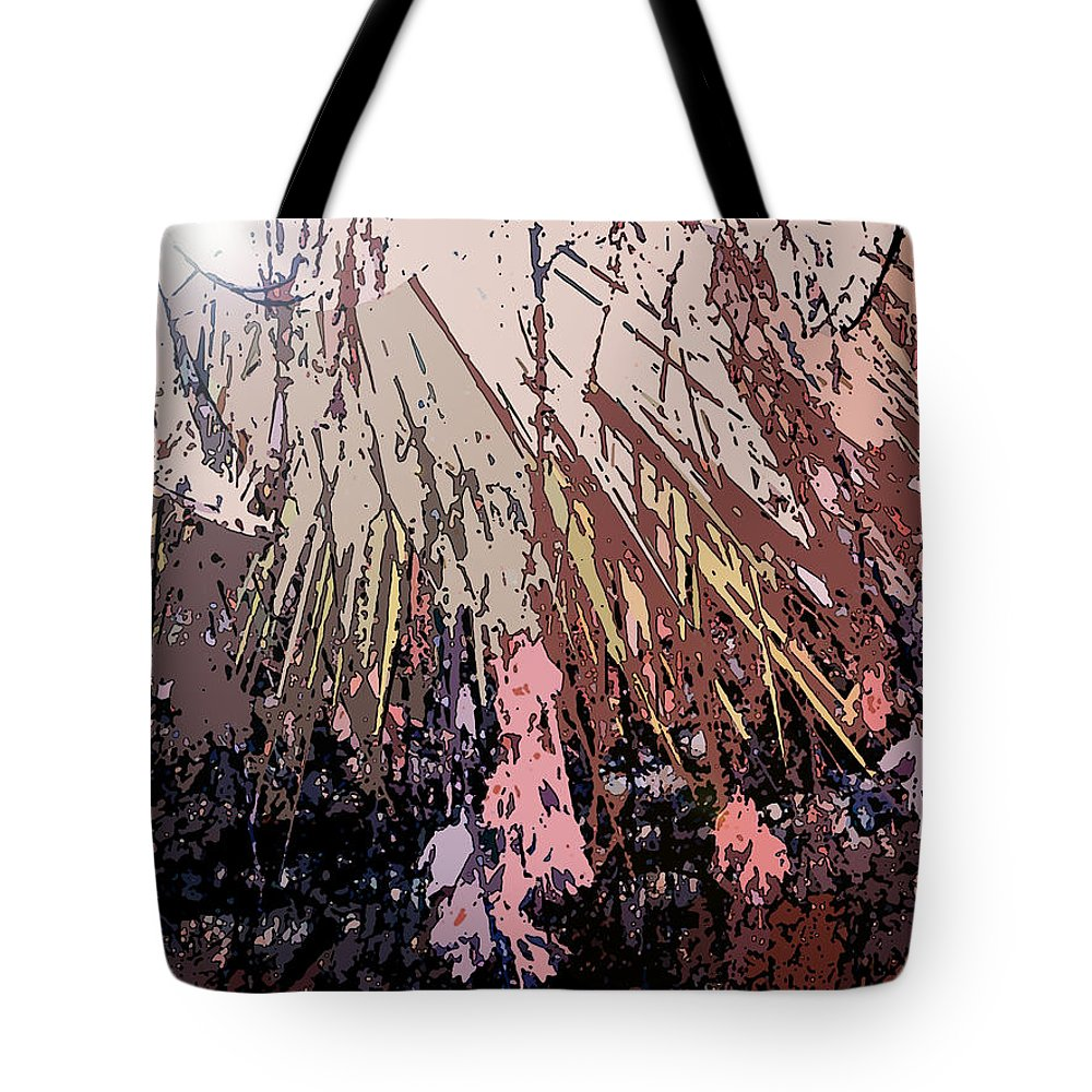 Abstract Tote Bag featuring the digital art Sunrays by Lenore Senior