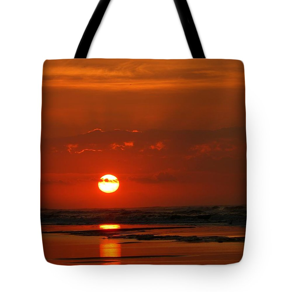 Sunrise Tote Bag featuring the photograph Sunrise 3 by Jeff Breiman