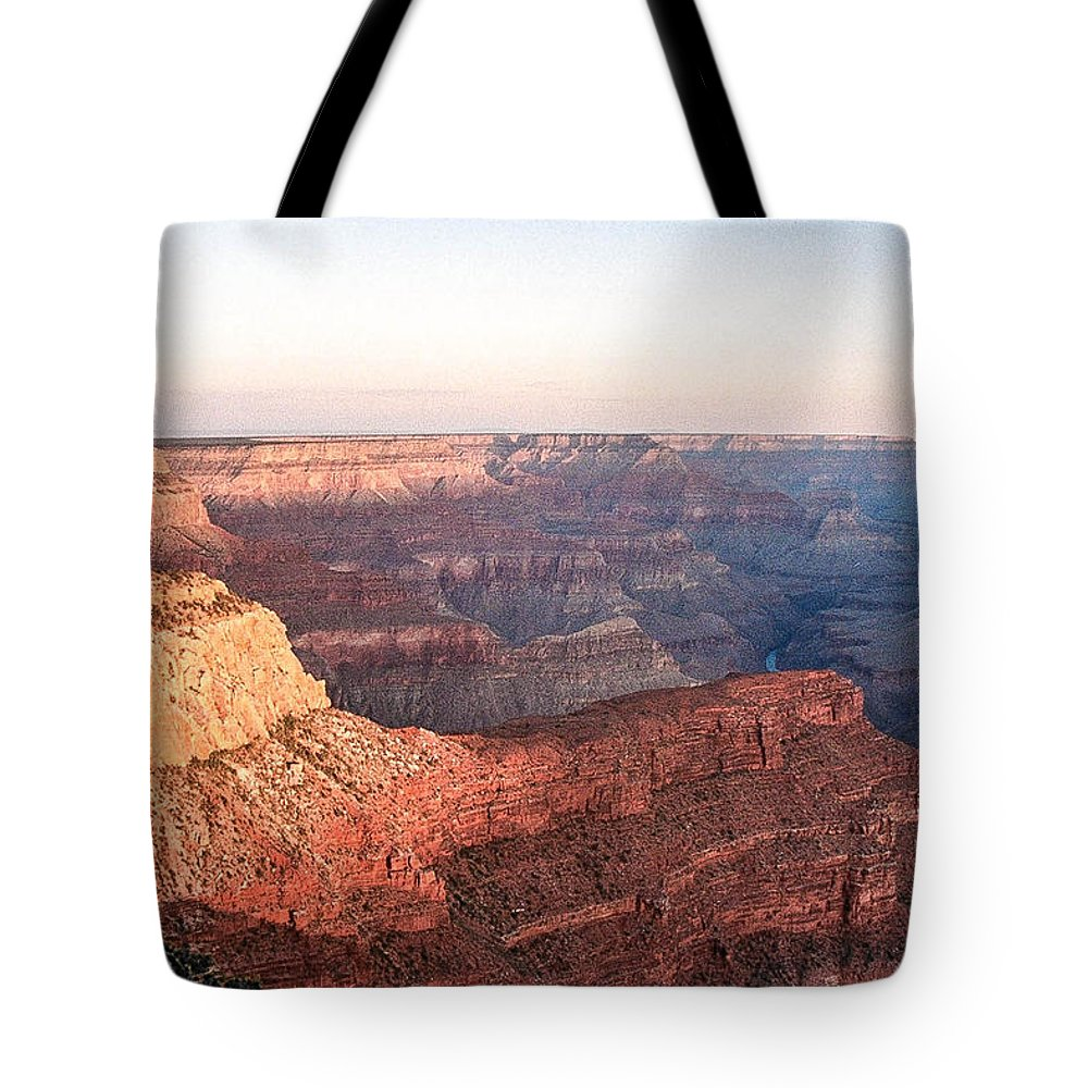 Sunrise Tote Bag featuring the photograph Sunrise At Pima Point 2 by Mike Wheeler