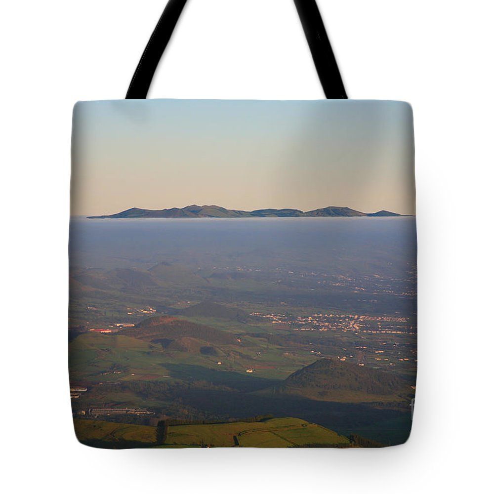 Fog Tote Bag featuring the photograph Sunrise At Sao Miguel Island by Gaspar Avila