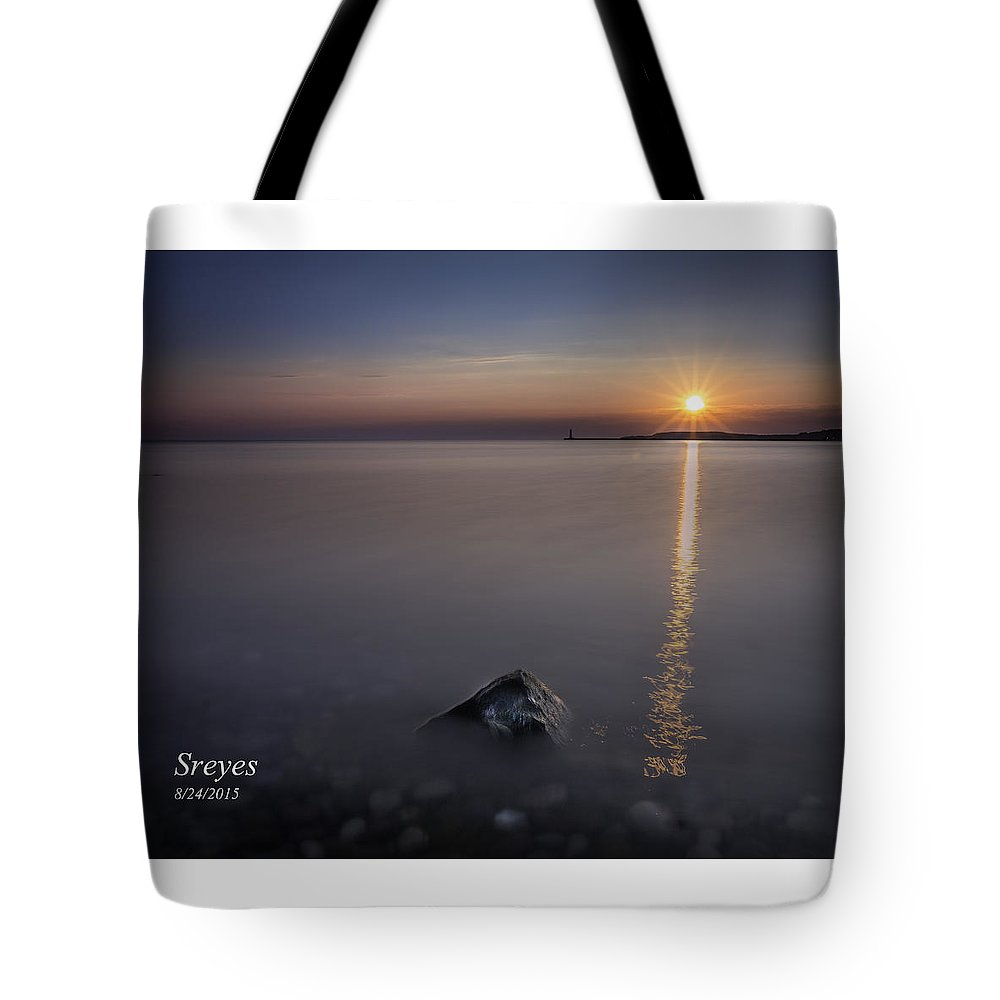 Sodus Point Tote Bag featuring the photograph Sunrise At Sodus Point by Scott Reyes