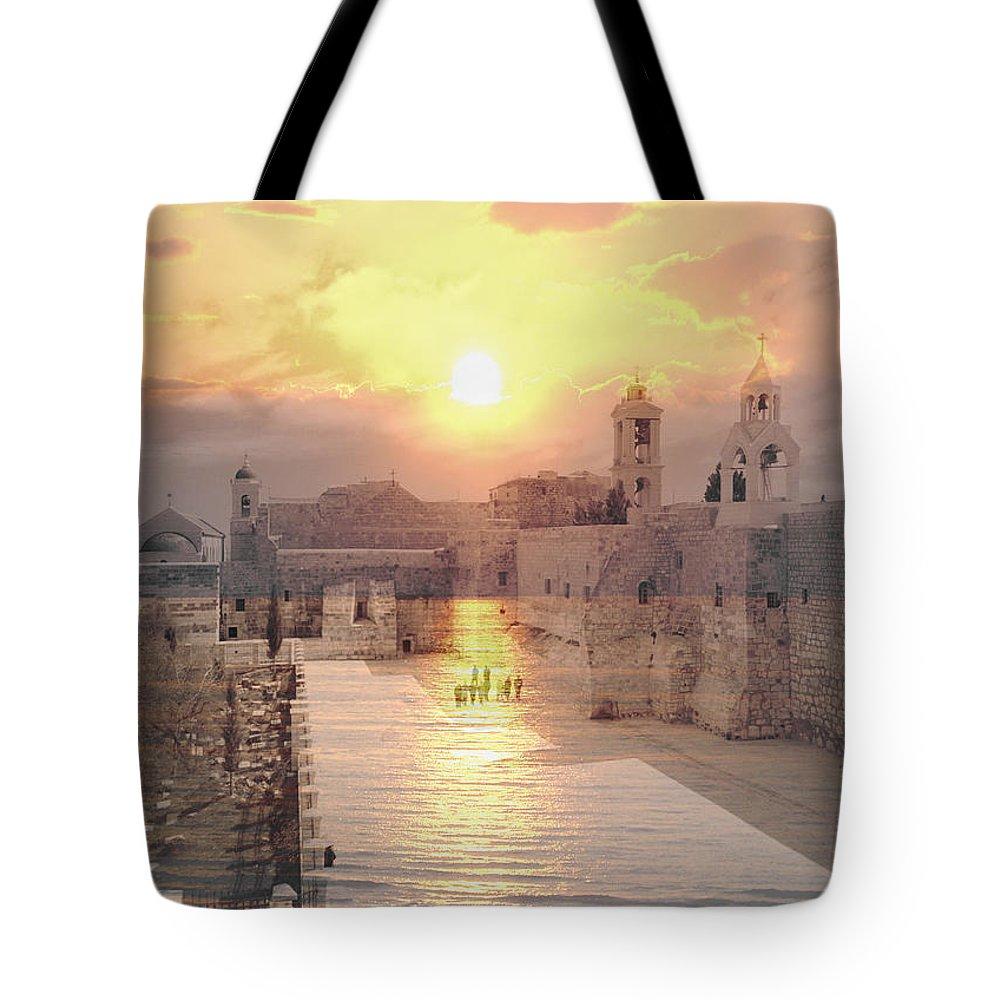 Bethlehem Tote Bag featuring the photograph Sunrise Bethlehem by Munir Alawi