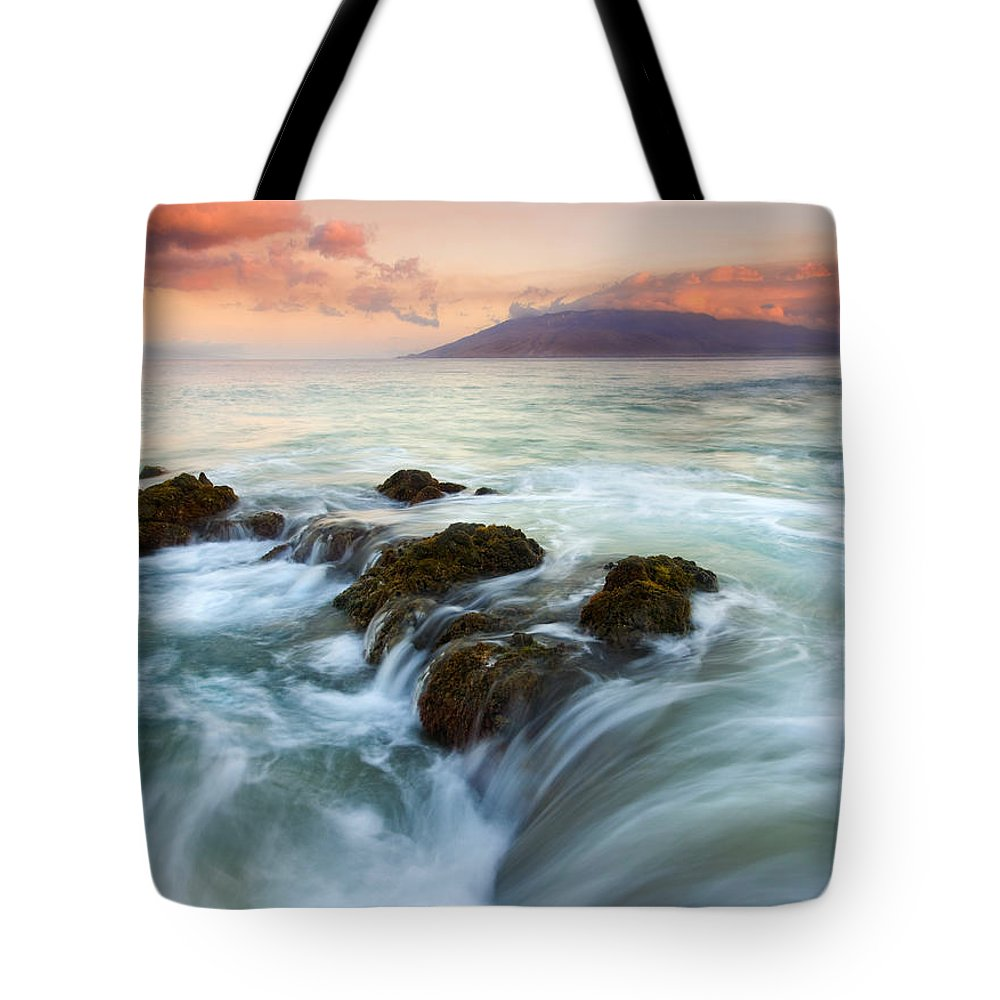 Sunrise Tote Bag featuring the photograph Sunrise Drain by Mike Dawson