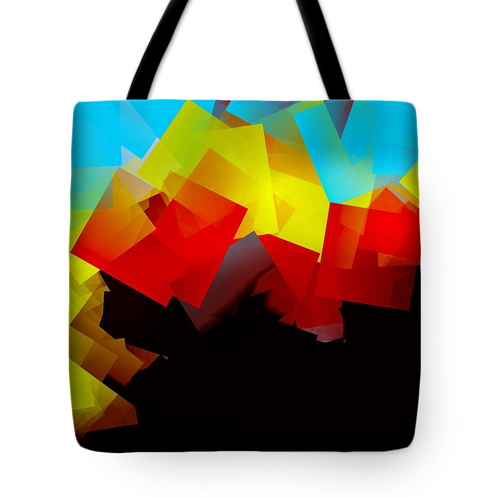 Sunrise Tote Bag featuring the digital art Sunrise by Helmut Rottler