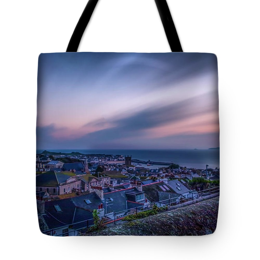 Cornwall Tote Bag featuring the photograph Sunrise In St Ives In Cornwall by Philip Pound