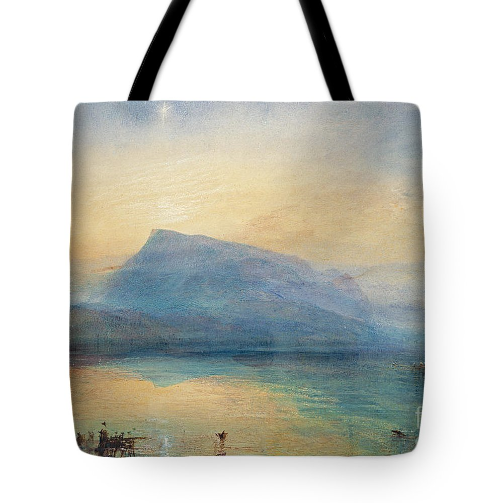 The Tote Bag featuring the painting Sunrise by Joseph Mallord William Turner