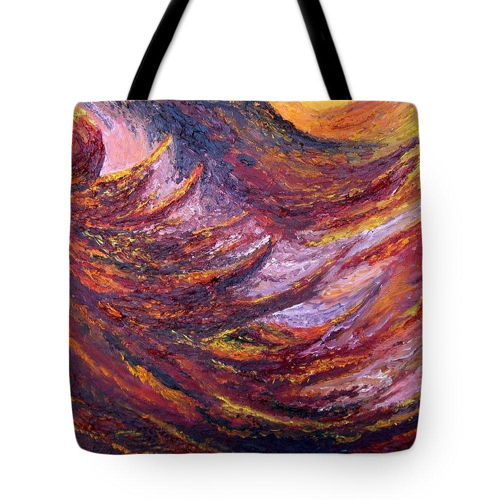 Sunrise Tote Bag featuring the painting Sunrise by Karina Ishkhanova