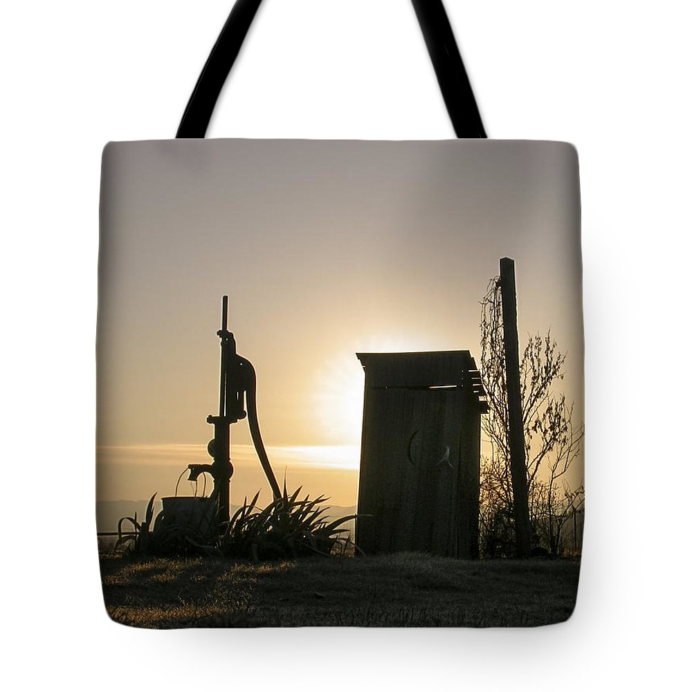 Jim Stephenson Tote Bag featuring the photograph Sunrise On The Past by Jim R Stephenson