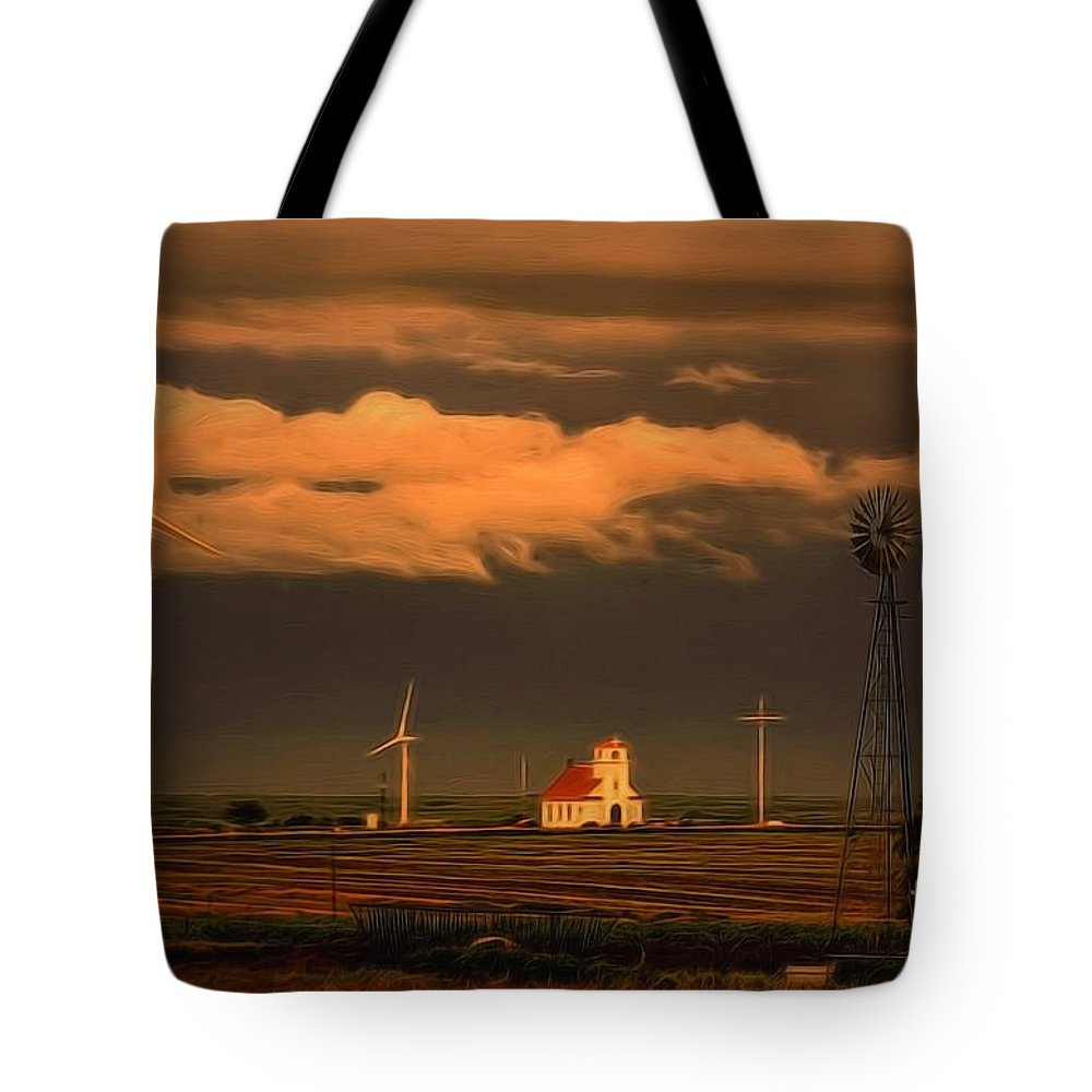 Kansas Sentinels Tote Bag featuring the photograph Sunrise On The Prairie by Jon Burch Photography
