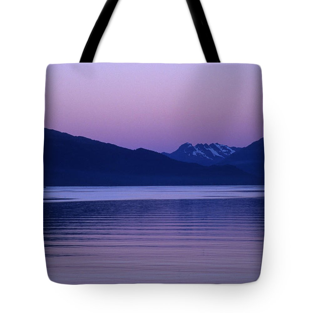 Prince William Sound Tote Bag featuring the photograph Sunrise On The Prince William Sound by Stacy Gold