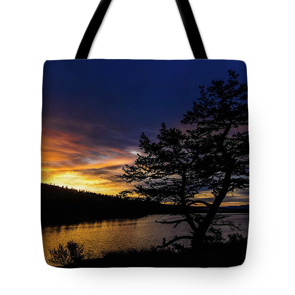 Nature Tote Bag featuring the photograph Sunrise Over Hauser by Tory Stephens