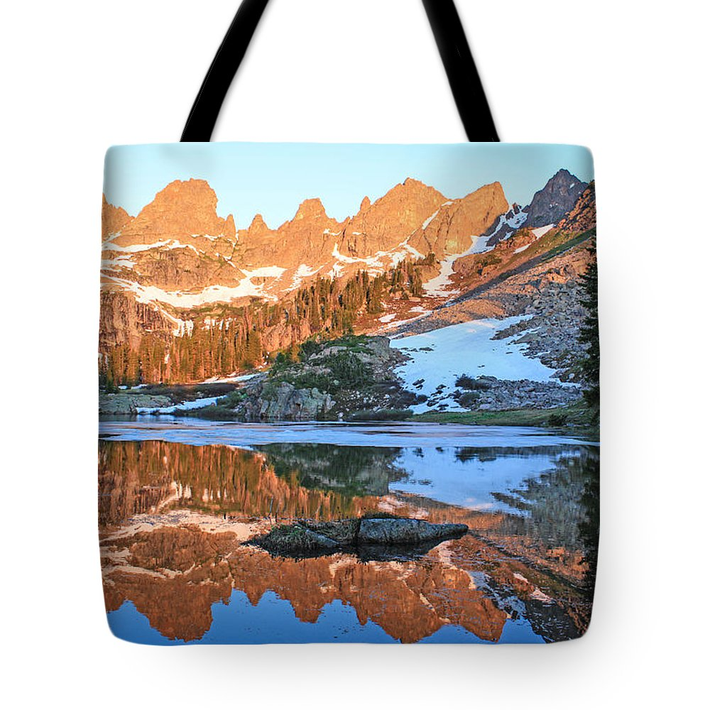 Colorado Tote Bag featuring the photograph Sunrise Reflection At Willow Lakes by Zach Arnone