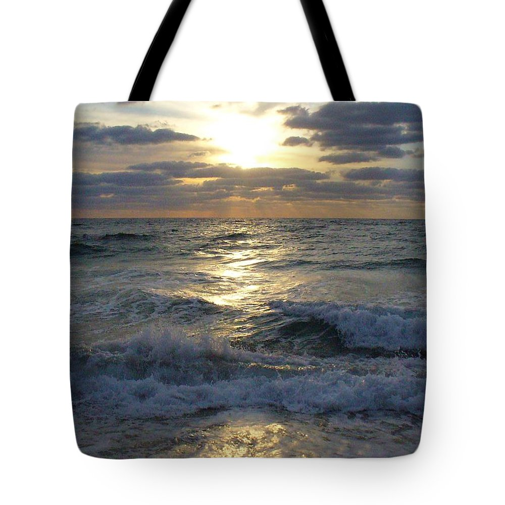 Sunrise Tote Bag featuring the photograph Sunrise Reflections by Peggy King