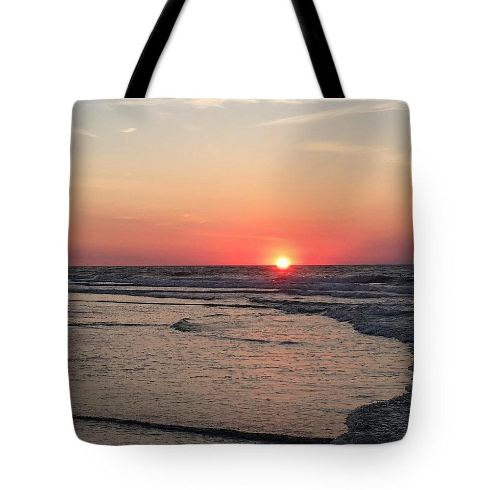 Serenity Tote Bag featuring the photograph Sunrise Serenity by Jeanette Conrad