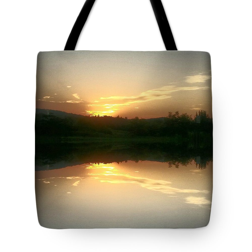 Sunrise Serenity Tote Bag featuring the photograph Sunrise Serenity by Maria Urso