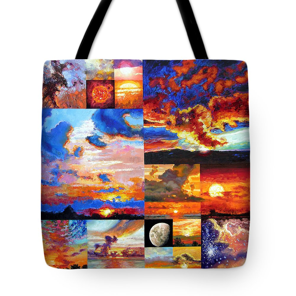 Sunrise Tote Bag featuring the painting Sunrise Sunset Sunrise by John Lautermilch