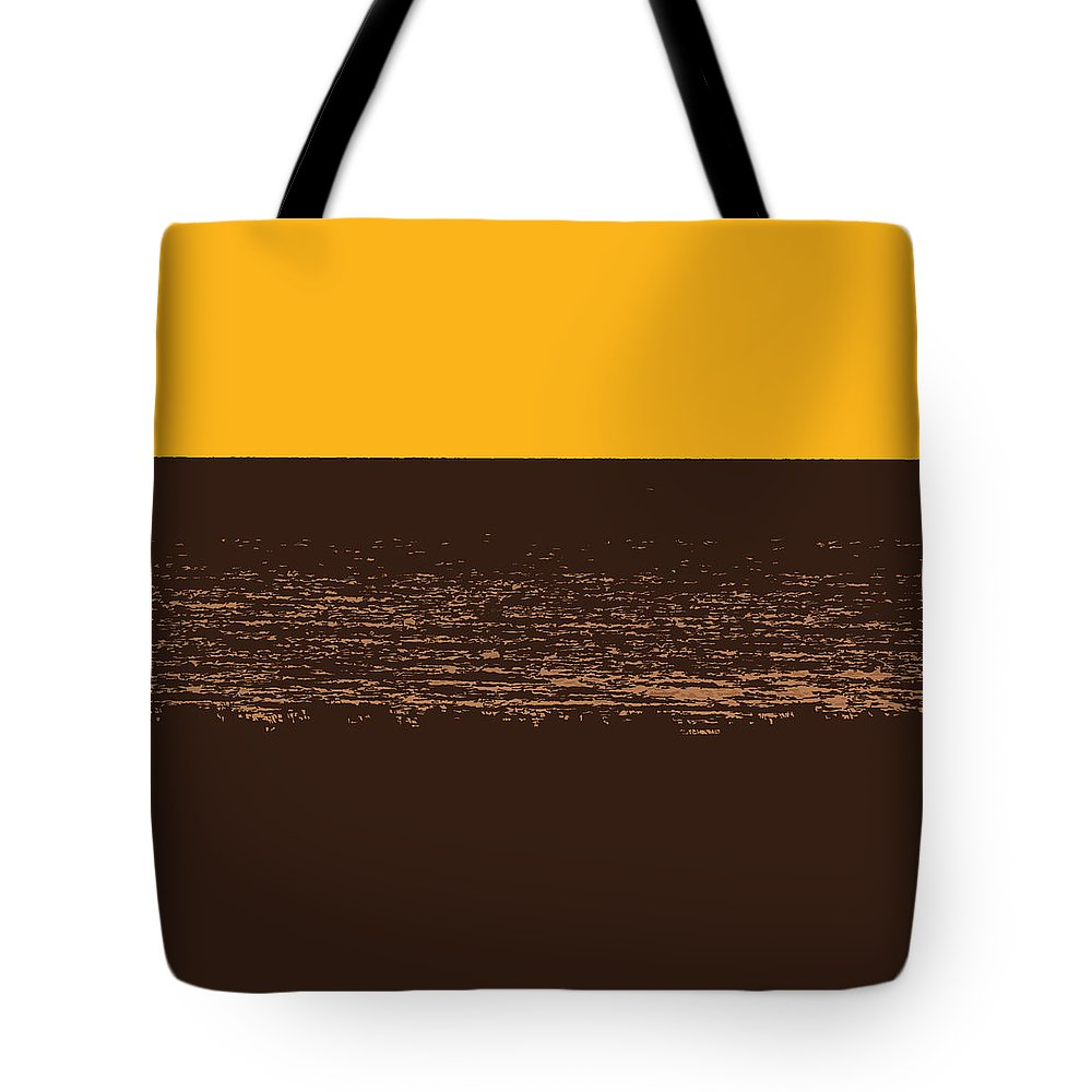 Golden Tote Bag featuring the photograph Sunset And Lake Michigan by Michelle Calkins