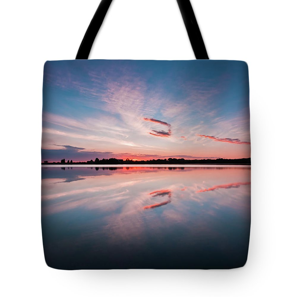 Sunrise Tote Bag featuring the photograph Sunset At Anglezarke Reservoir #3, Rivington, Lancashire, North West England by Anthony Lawlor