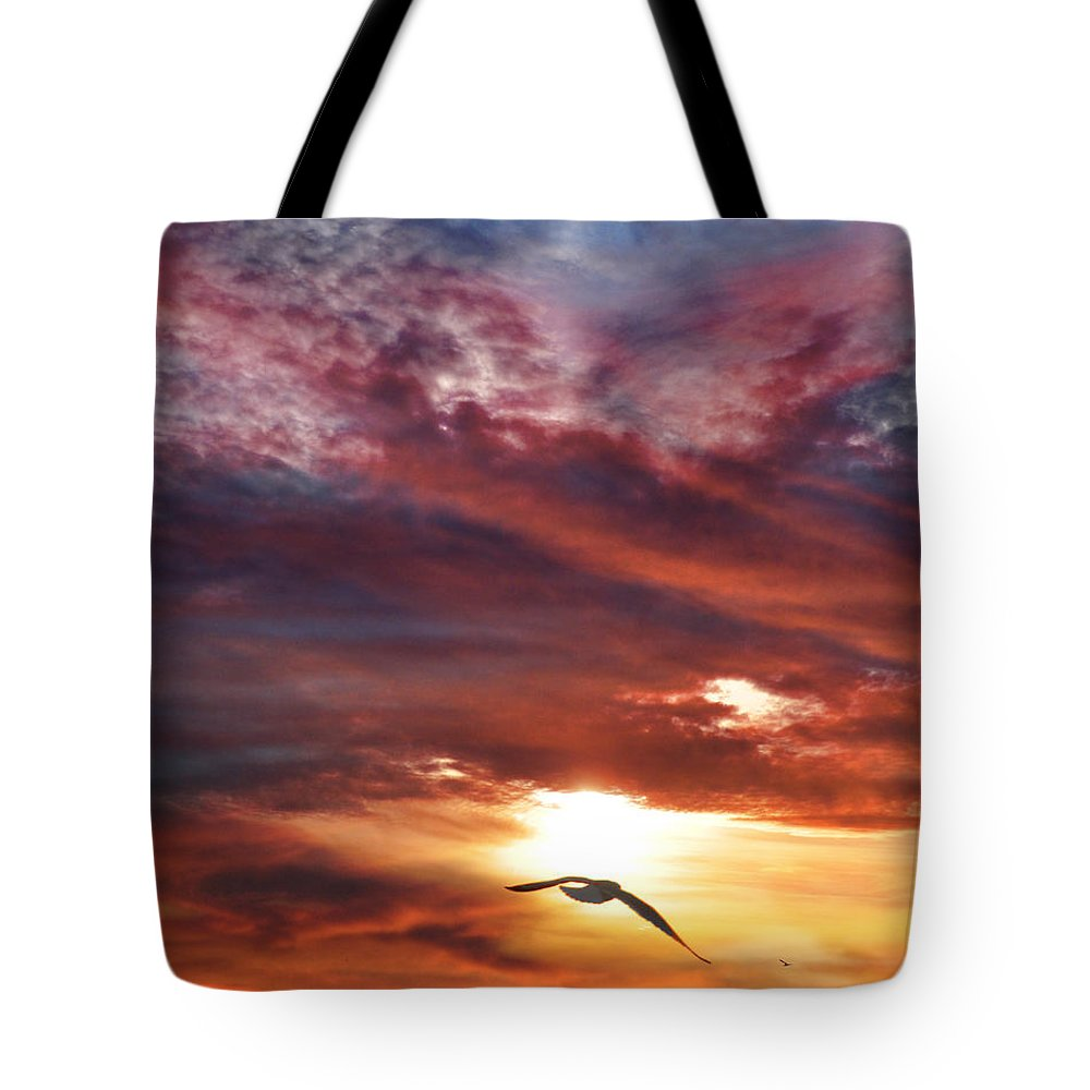 Sunset Tote Bag featuring the photograph Sunset At Arverne by Denise Laurin