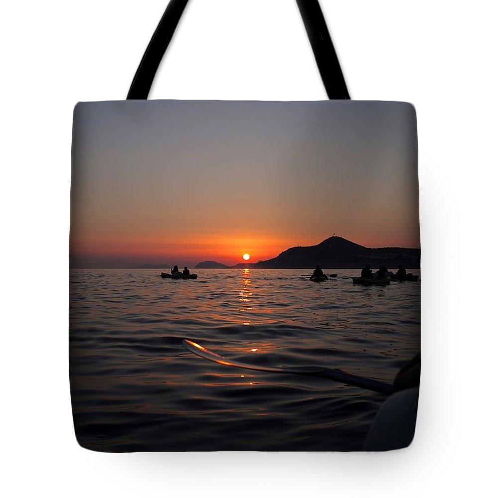 Dubrovnik Tote Bag featuring the photograph Sunset At Sea by Piotr Kuzniar