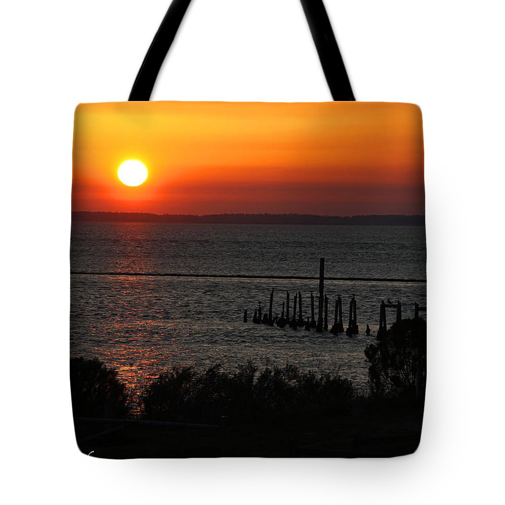 Sunset Tote Bag featuring the photograph Sunset At St.marks Nwf by Barbara Bowen