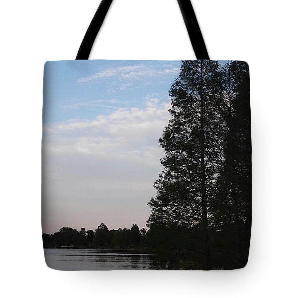 Sunset At The Lake Tote Bag featuring the photograph Sunset At The Lake by John Hiatt