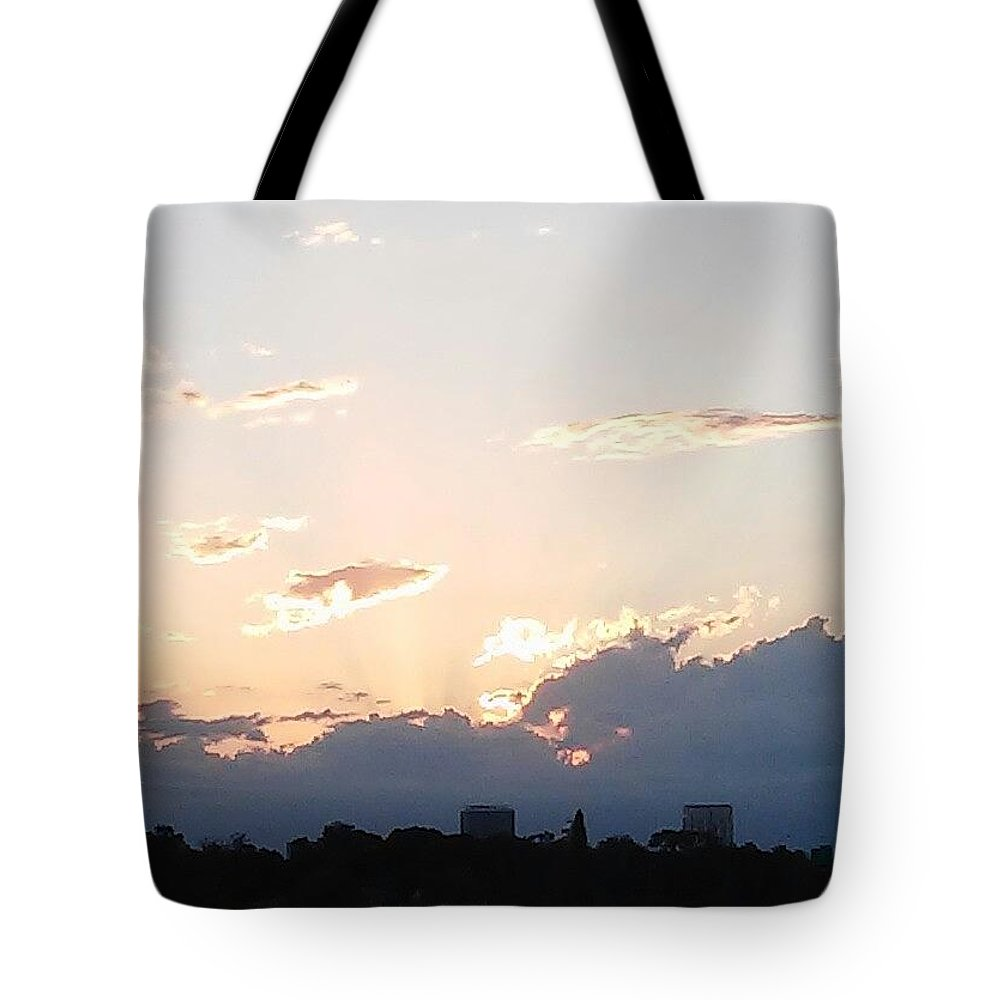 Tote Bag featuring the photograph Sunset At The Lake3 by John Hiatt