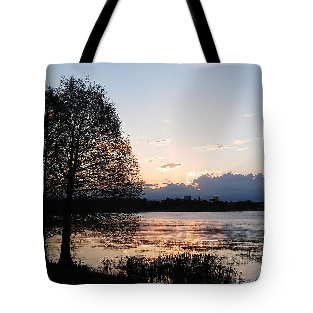 Tote Bag featuring the photograph Sunset At The Lake4 by John Hiatt