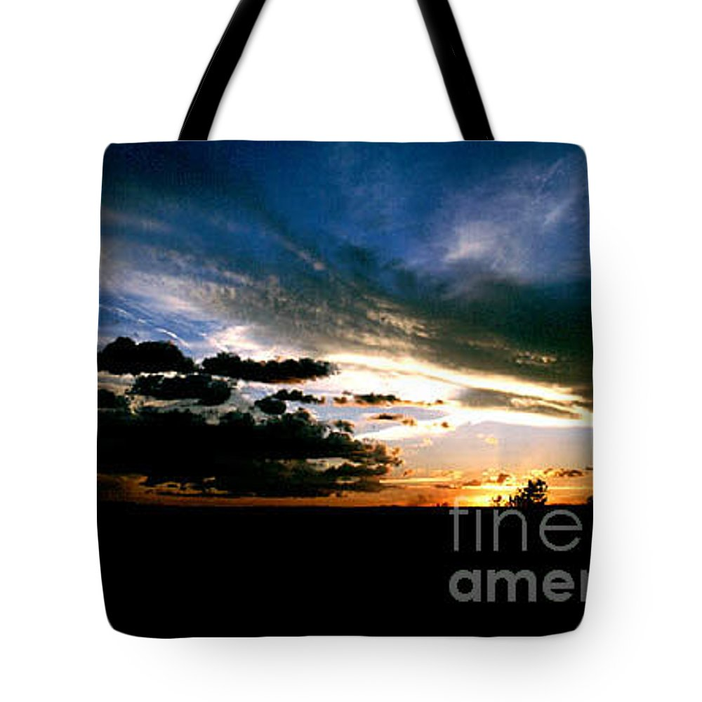 Sunset Tote Bag featuring the photograph Sunset At The North Rim by Kathy McClure