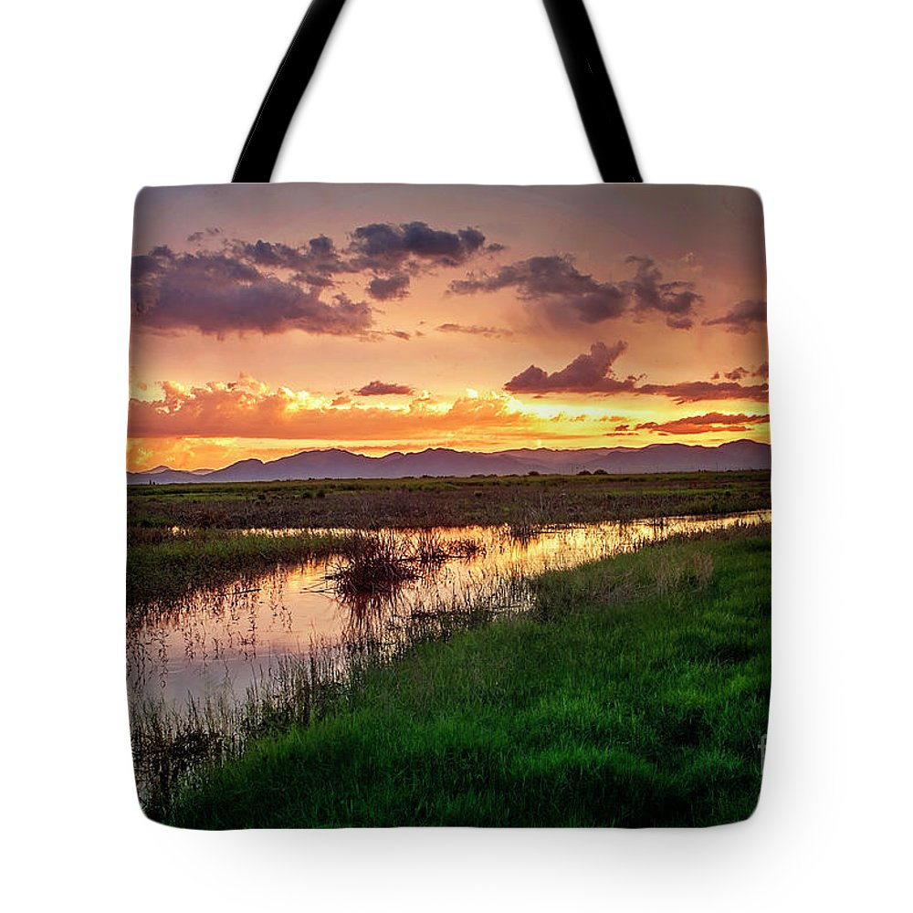 Sunset Tote Bag featuring the photograph Sunset At Whitewater Draw by Angelina Cornidez