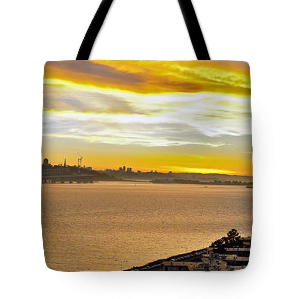 San Francisco Bay Tote Bag featuring the photograph Sunset Bay by Kelley King