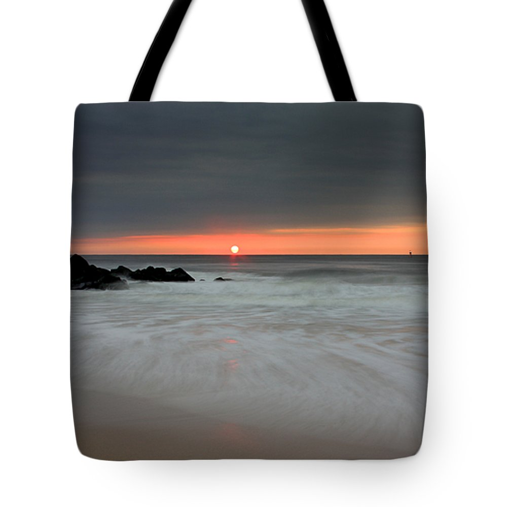 Belmar Tote Bag featuring the photograph Sunset Before The Storm by Jeff Bord