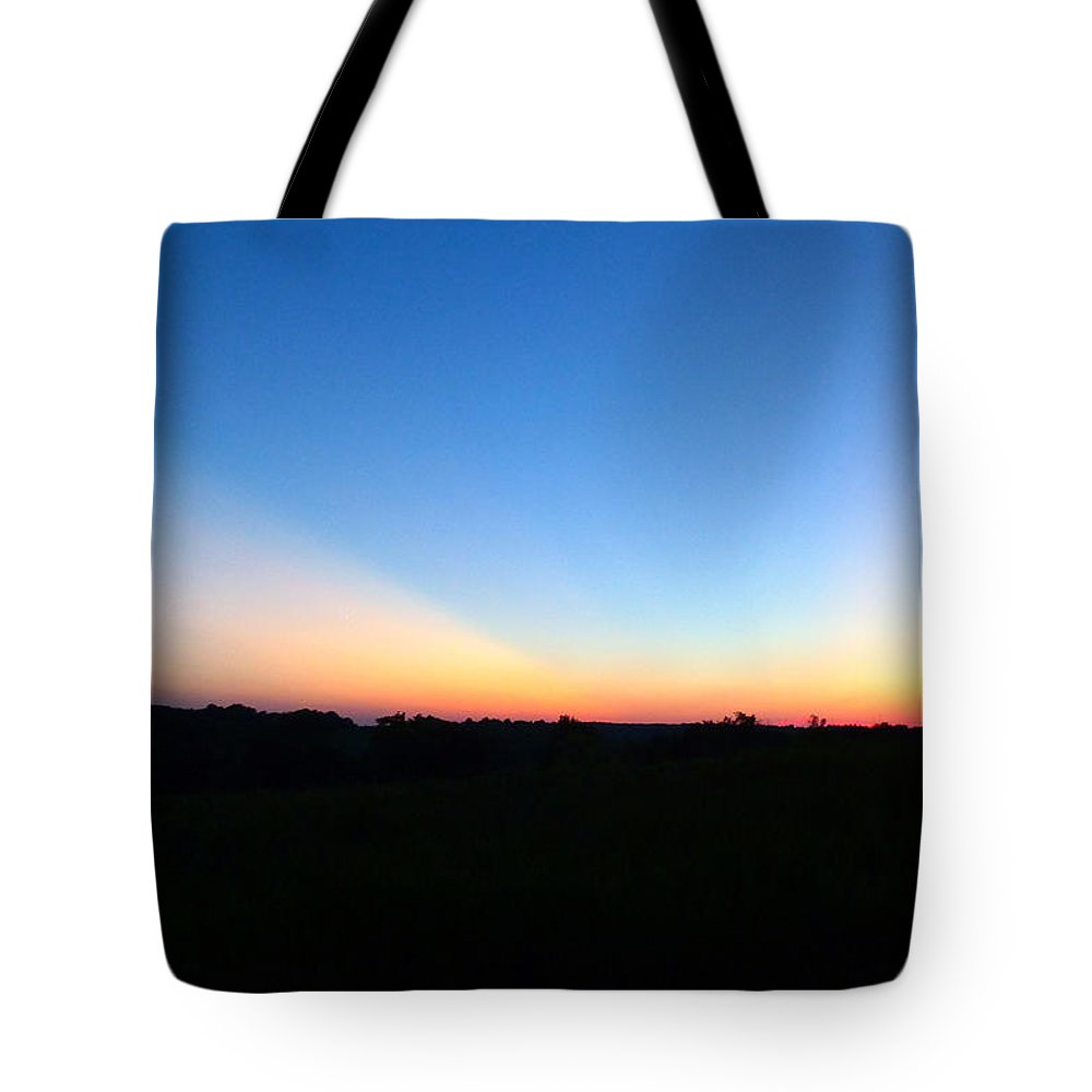 Sunset Tote Bag featuring the digital art Sunset Blue by Jana Russon