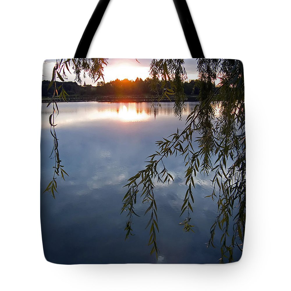 Nature Tote Bag featuring the photograph Sunset by Daniel Csoka