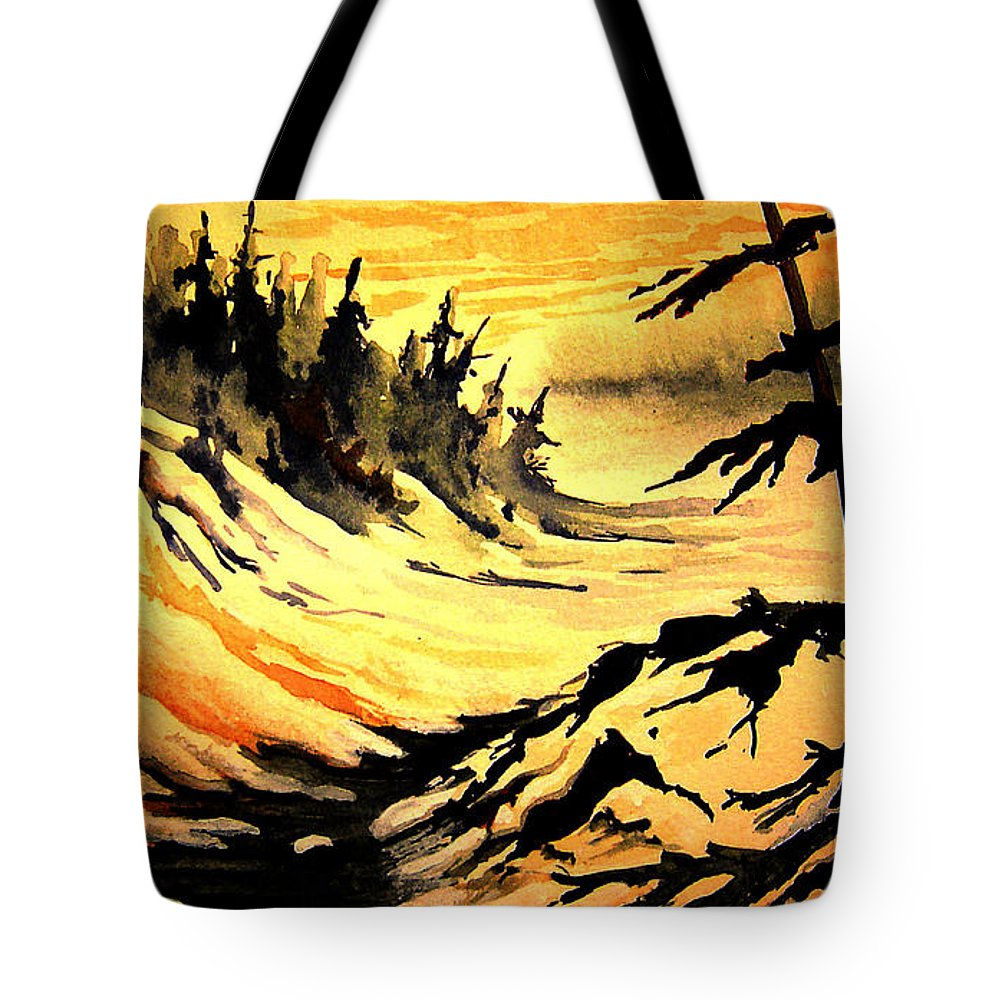 Sunset Extreme Tote Bag featuring the painting Sunset extreme by Joanne Smoley