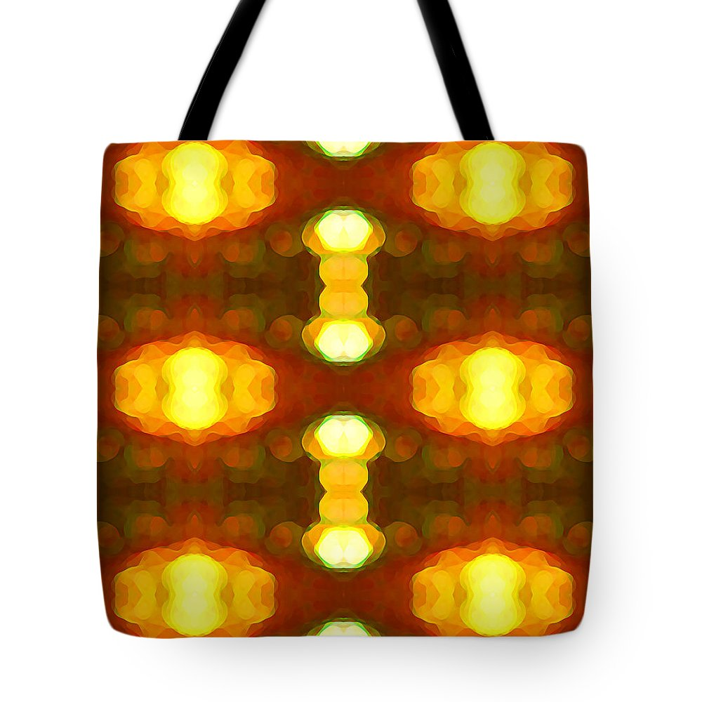 Abstract Painting Tote Bag featuring the digital art Sunset Glow 1 by Amy Vangsgard