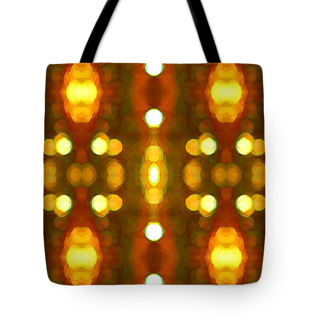 Abstract Tote Bag featuring the painting Sunset Glow 2 by Amy Vangsgard